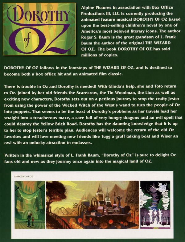 Dorothy of Oz promo movie poster AFM 2009 1.jpg