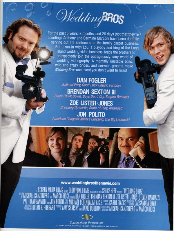 Wedding Bros 1 promo movie poster AFM 2009.jpg
