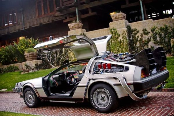 perfect replica of back to the future delorean for sale minus working flux capacitor collider. Black Bedroom Furniture Sets. Home Design Ideas