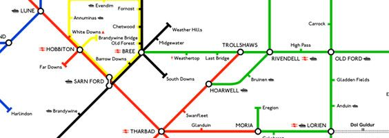 Rings Subway Map.Wear This Lord Of The Rings Tube Map T Shirt Collider Collider