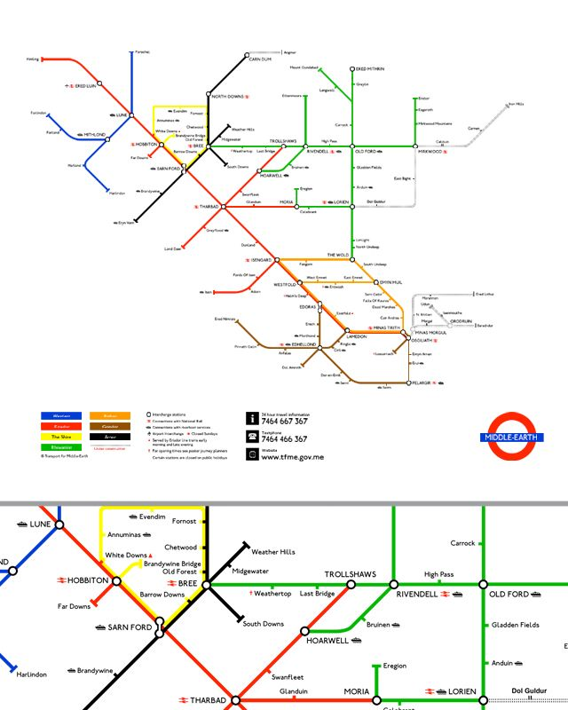 Wear This LORD OF THE RINGS Tube Map TShirt  Collider  Collider