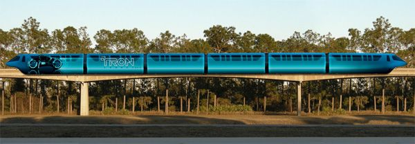 Disney Monorail Trains to Feature TRON LEGACY Art (3).jpg