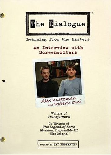 Alex Kurtzman and Roberto Orci The Dialogue DVD.jpg