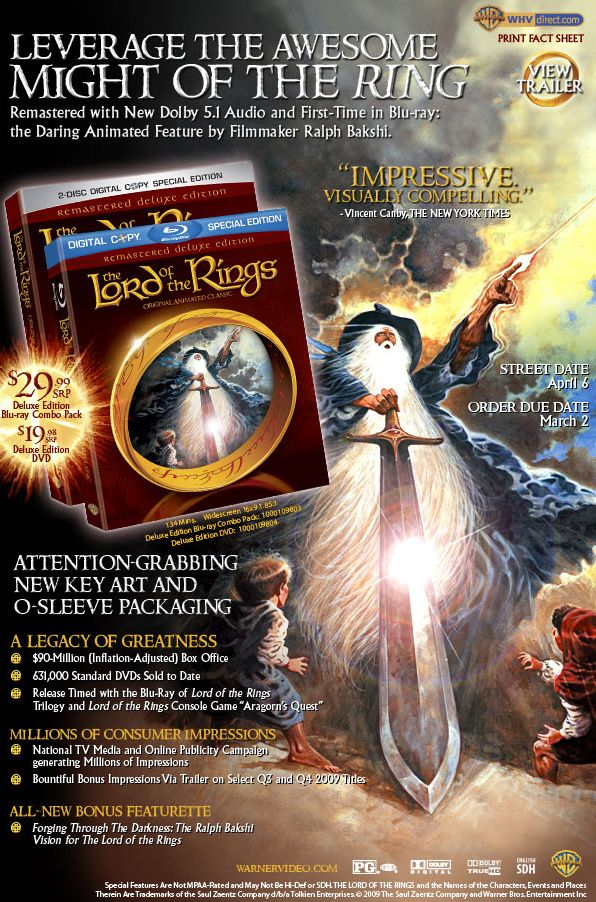 The Lord Of The Rings Dvd Cover
