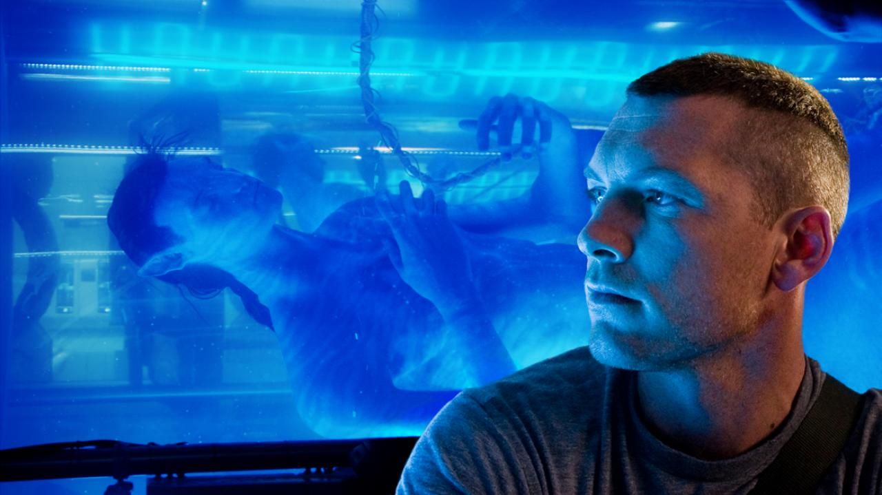 avatar review  avatar movie image james cameron sam worthington 01 jpg