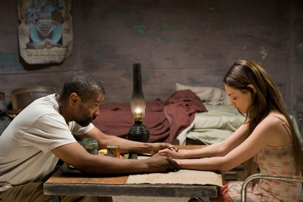 The book of eli review collider collider the book of eli movie image denzel washington and mila kunisg gumiabroncs Image collections