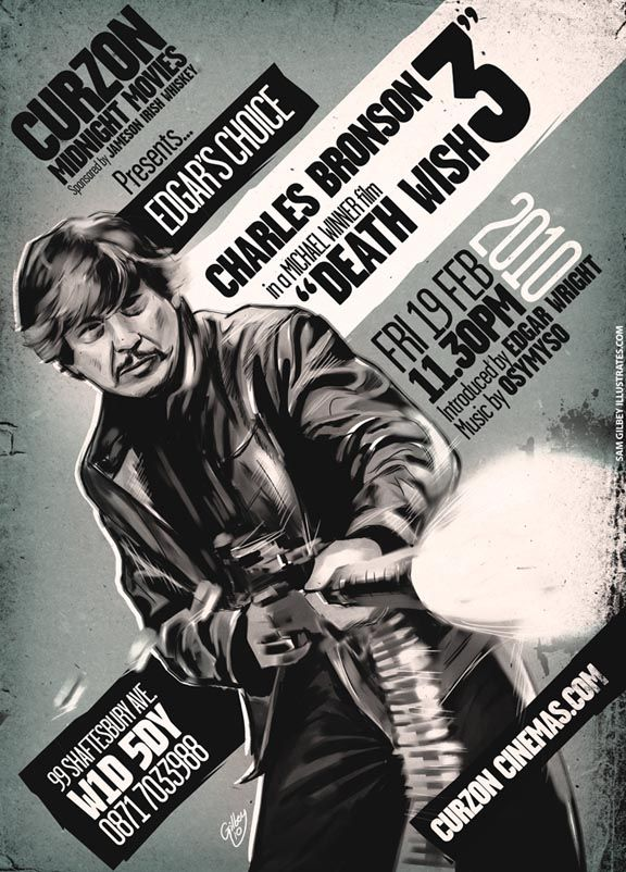 Death Wish 3 movie poster by Sam Gilbey for Edgar Wright screening (1).jpg