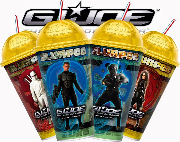 7-Eleven stores offer four 22-oz lenticular Slurpee cups in July featuring stars from the new movie G.I. Joe The Rise of Cobra.jpg