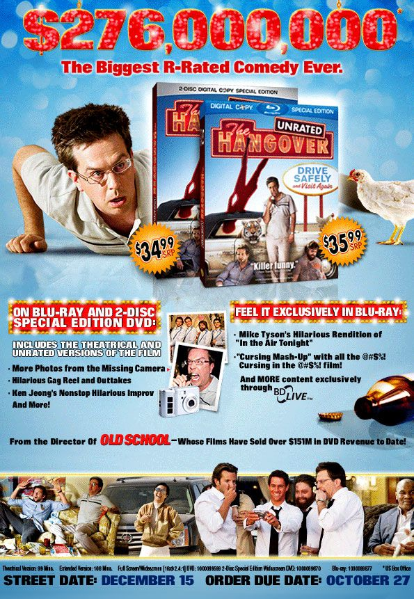 the hangover  dvd release