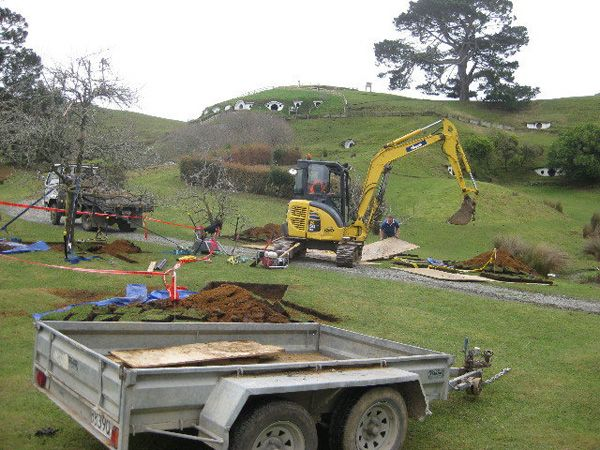The Hobbit movie - Rebuilding Hobbiton - Fruit trees being planted.jpg