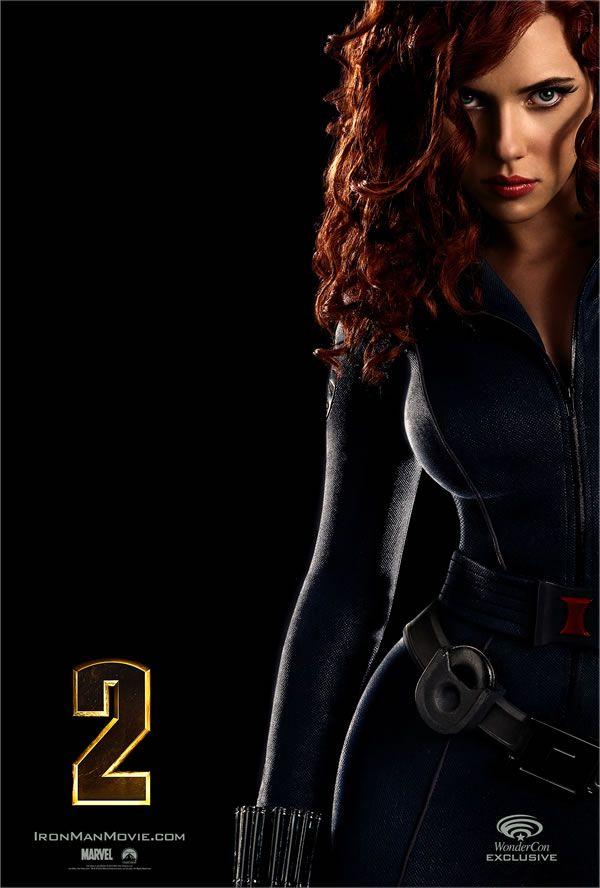 Free Iron Man 2 Mini Poster Of Scarlett Johansson As Natasha