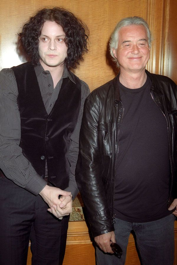 Jimmy Page Jack White And Director Davis Guggenheim