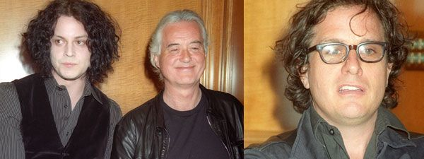 Jack White, Jimmy Page, and Davis Guggenheim image - It Might Get Loud press day Los Angeles.jpg