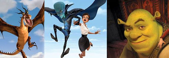 How to Train your dragon, Shrek Forever After, Megamind.jpg