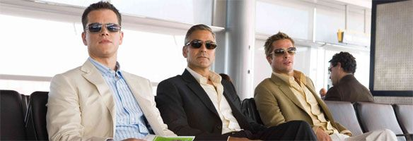 Oceans 13 Brad Pitt George Cloonet and Matt Damon.jpg