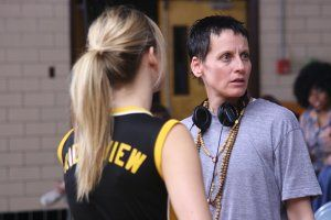 TPH_Lori Petty on set.jpg
