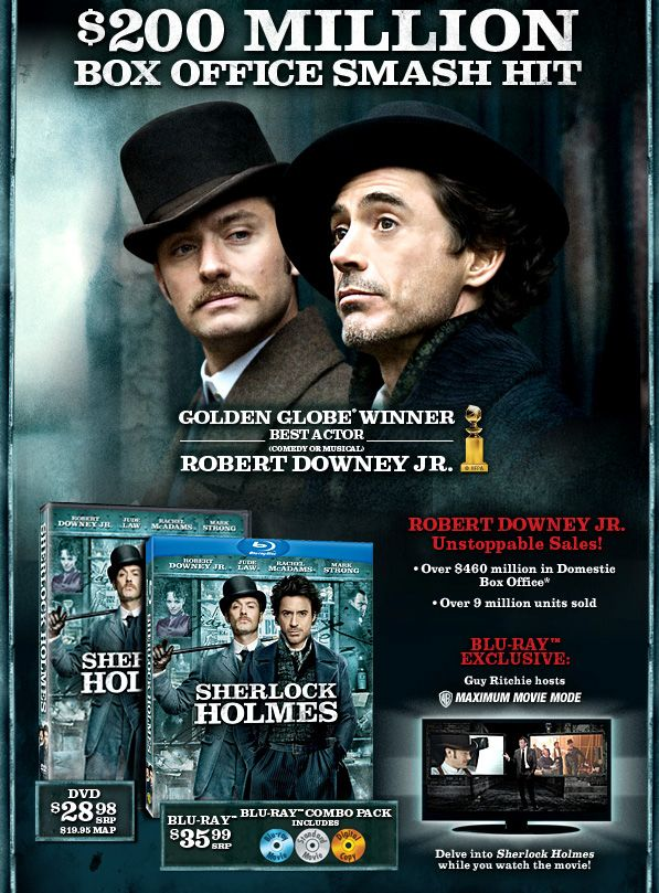 Sherlock Homes Dvd And Blu Ray Info And Cover Art Collider Collider