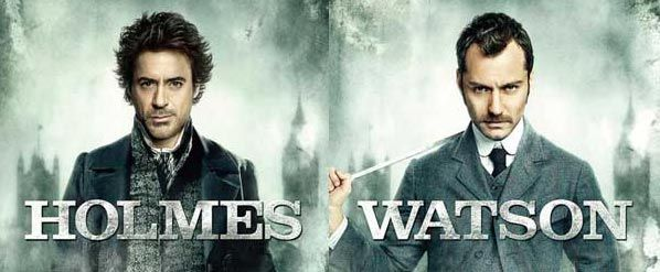 Sherlock Holmes character posters of Robert Downey Jr as Sherlock and Jude Law and Watson - preview.jpg