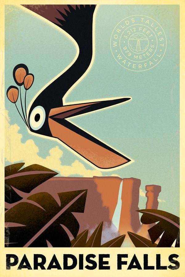 alturas un poster retro de    up     pues aqu  237  tiene unos cuantosPixar Up Movie Poster