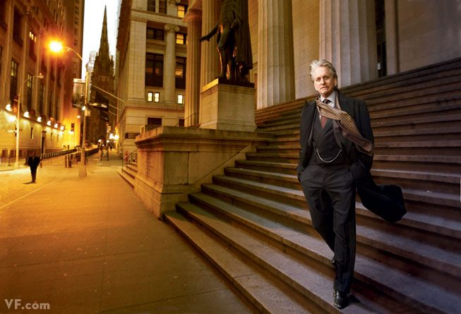 Michael Douglas in character as Gordon Gekko outside Federal Hall on Wall Stree.jpg