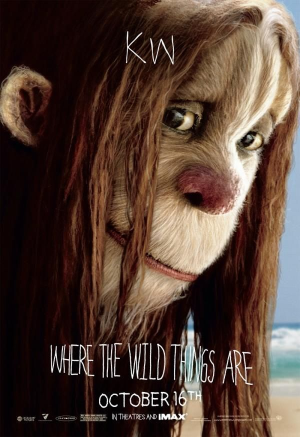 Where the Wild Things Are character movie poster KW.jpg