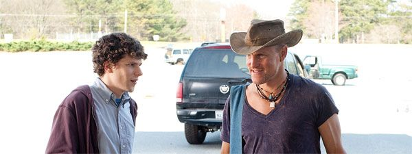 Woody Harrelson And Jesse Eisenberg On Set Interview Zombieland