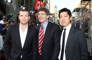 Producer Dan Lin, Alan Horn and Sam Worthington Terminator Salvation.jpg
