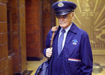 Stan Lee as Baxter Building mailman Willie Lumpkin in Fantastic Four.jpg