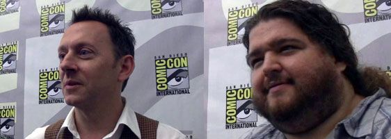Michael Emerson and Jorge Garcia at comic-con - LOST.jpg