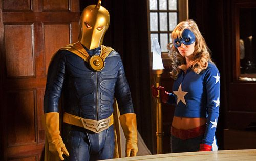 Doctor Fate (Brent Stait) and Stargirl (Britt Irvin) Smallville Justice League episode.jpg