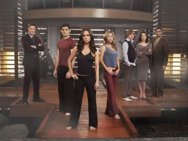 The Dollhouse Cast: Tahmoh Penikett, Enver Gjokaj, Eliza Dushku, Dichen Lachman, Fran Kranz, Olivia Williams and Harry J. Lennix