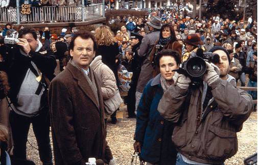 At the time, fifteen years ago, Groundhog's Day was simply the best movie