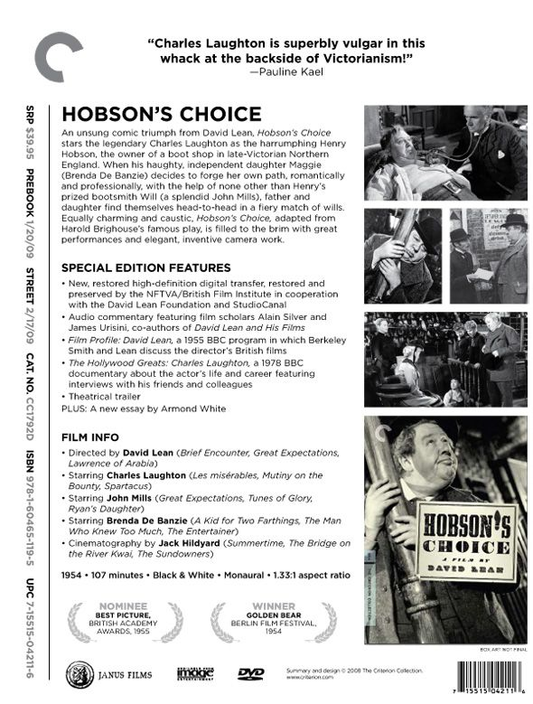 maggie and hobson in hobsons choice essay Both female leads, maggie and antigone, in the plays hobson's choice and from hum 2305 at university of florida.