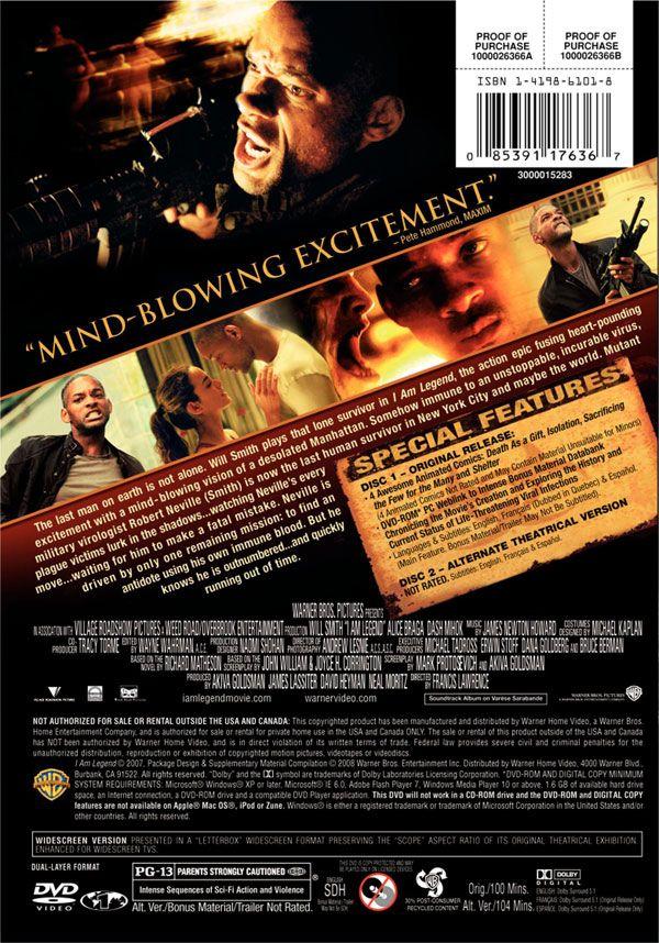 avatar dvd cover art. I AM LEGEND – DVD Cover Art
