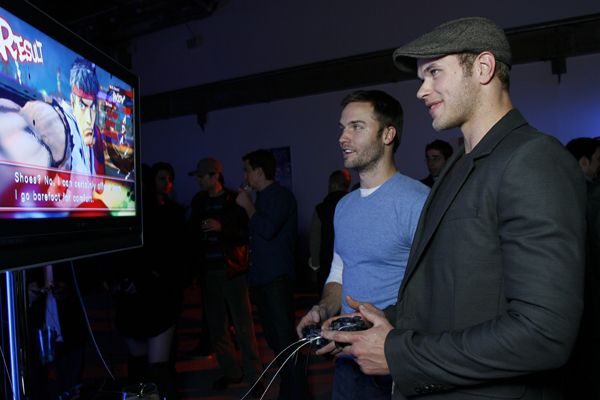Kellan Lutz Exclusive Video Interview at the Street Fighter Video Game Release Party Scott_porter_and_kellan_lutz