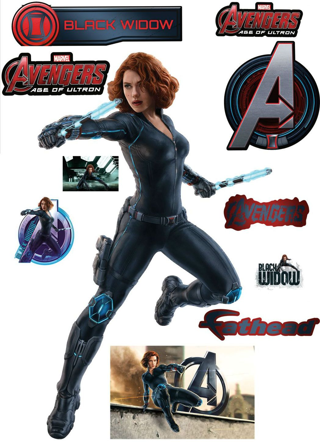 Black Widow Age Ultron: Avengers: Age Of Ultron Fathead Wall Decals Featuring