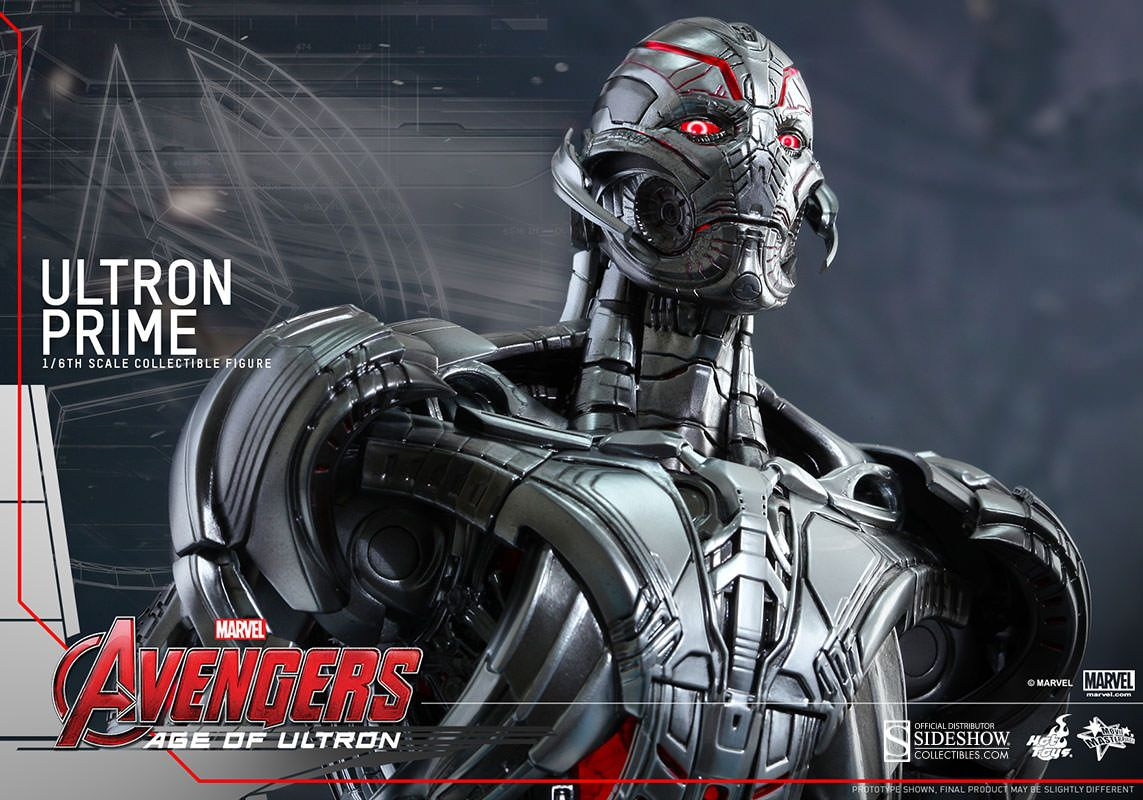 Avenger Age Of Ultron Sketch: Ultron Sixth Scale Figure From Hot Toys And Sideshow