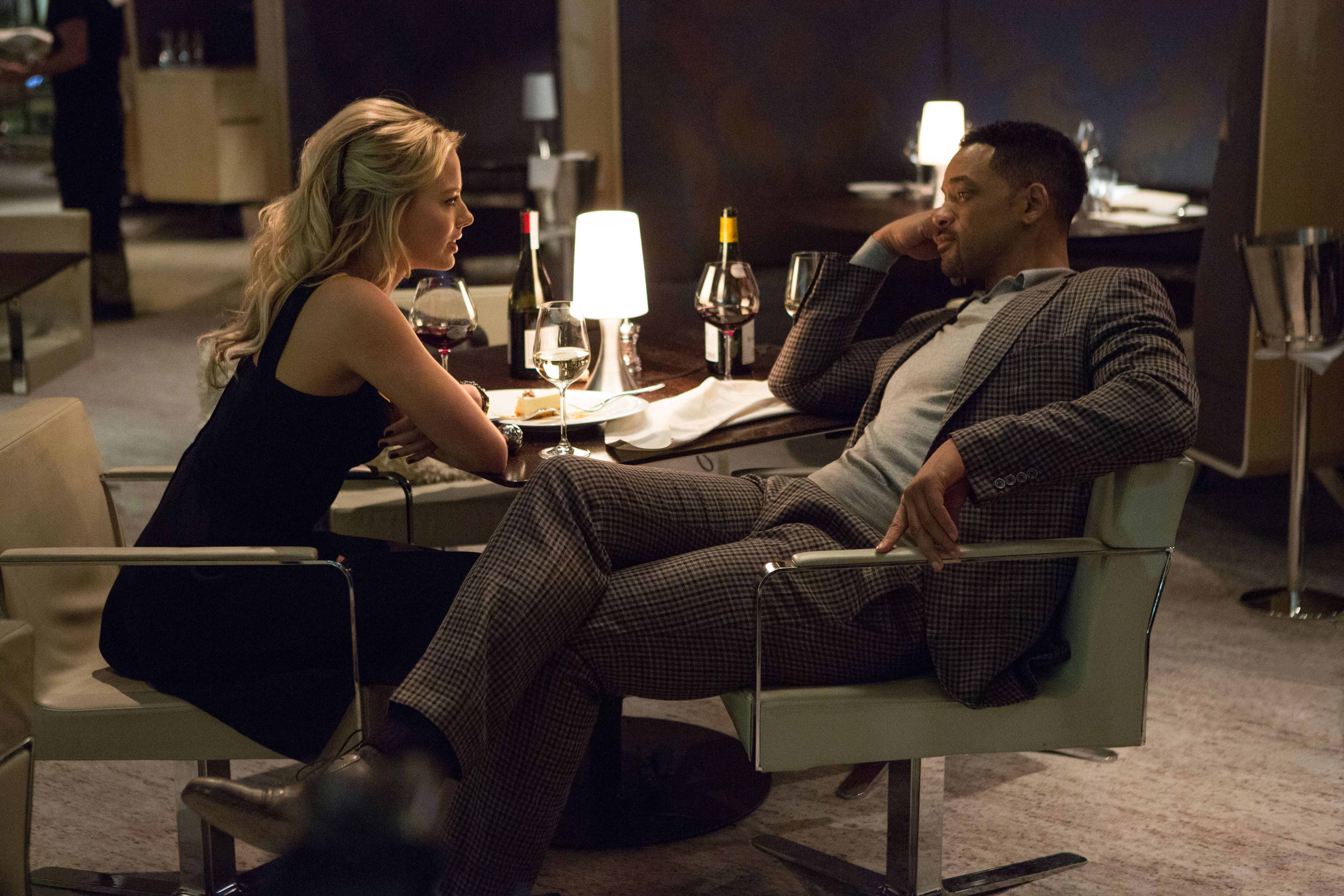 Will Smith And Margot Robbie Talk Focus Suicide Squad