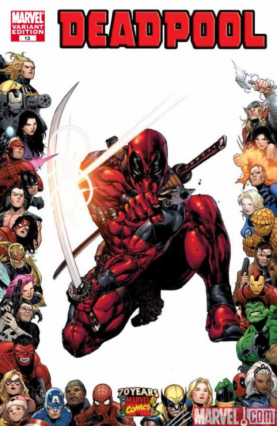 deadpool art poster attack 22x34 marvel comic book wolverine cable ...