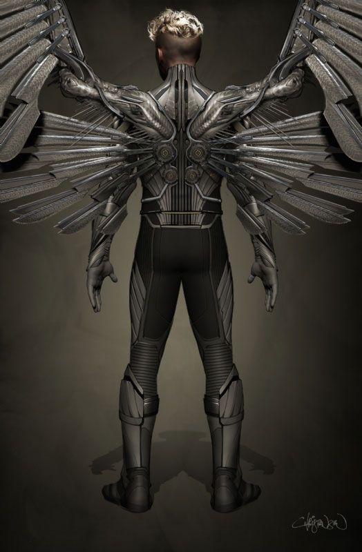 x men apocalypse concept art teases archangel collider. Black Bedroom Furniture Sets. Home Design Ideas