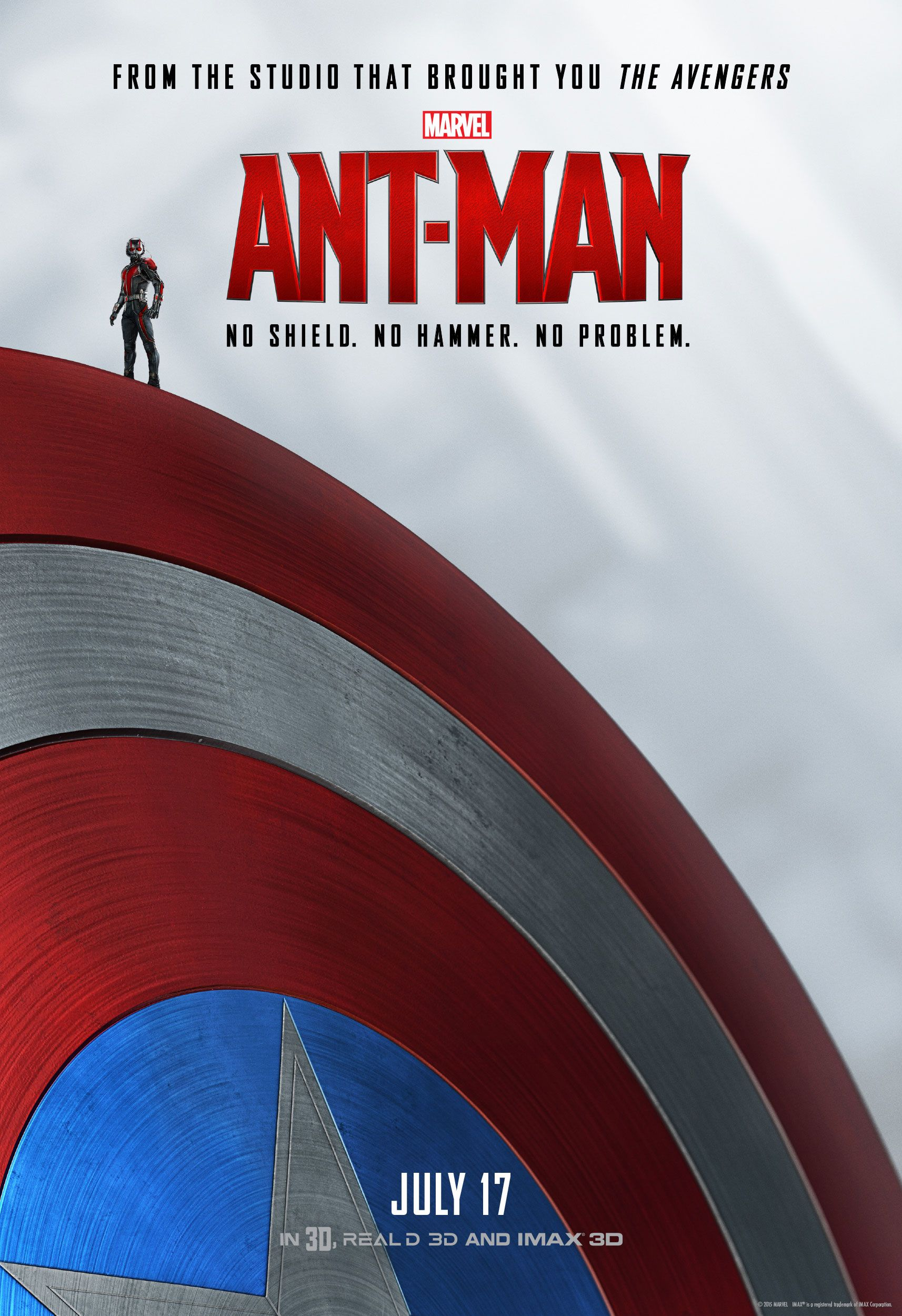 antman posters feature title hero posed with the avengers