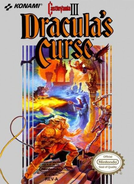 Castlevania 3 Dracula's Curse video game.