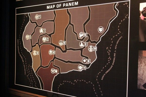 Hunger Games Exhibition Images: Costumes, Props and More ... on panama map hunger games, map of district of columbia, map of all indian tribes, map of panem, district 13 hunger games, map of africa,
