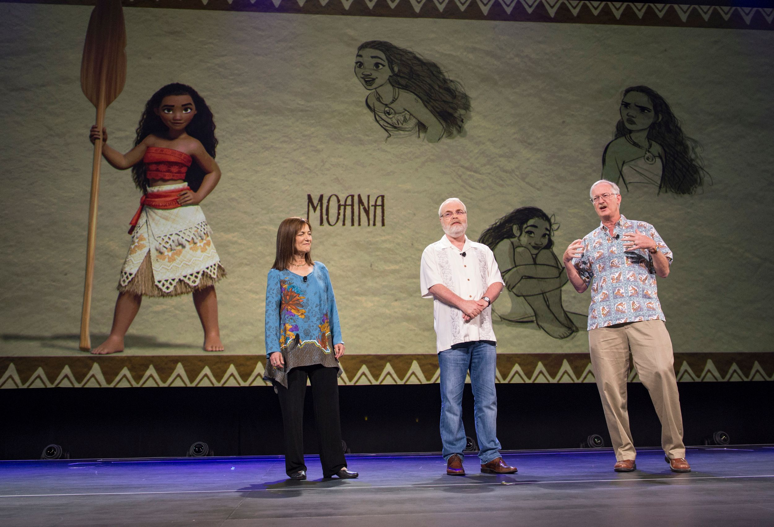 Moana images reveal dwayne johnson 39 s character collider for Concept expo