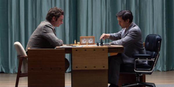 Tobey Maguire and Liev Schreiber star in Pawn Sacrifice.