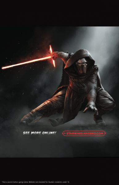 Kylo Ren in Star Wars Force Friday toy catalog.