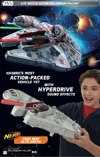 Millennium Falcon in Star Wars Force Friday toy catalog.