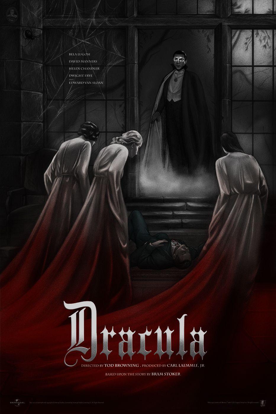 Jonathan Burton Dracula Posters for MondoCon | Collider