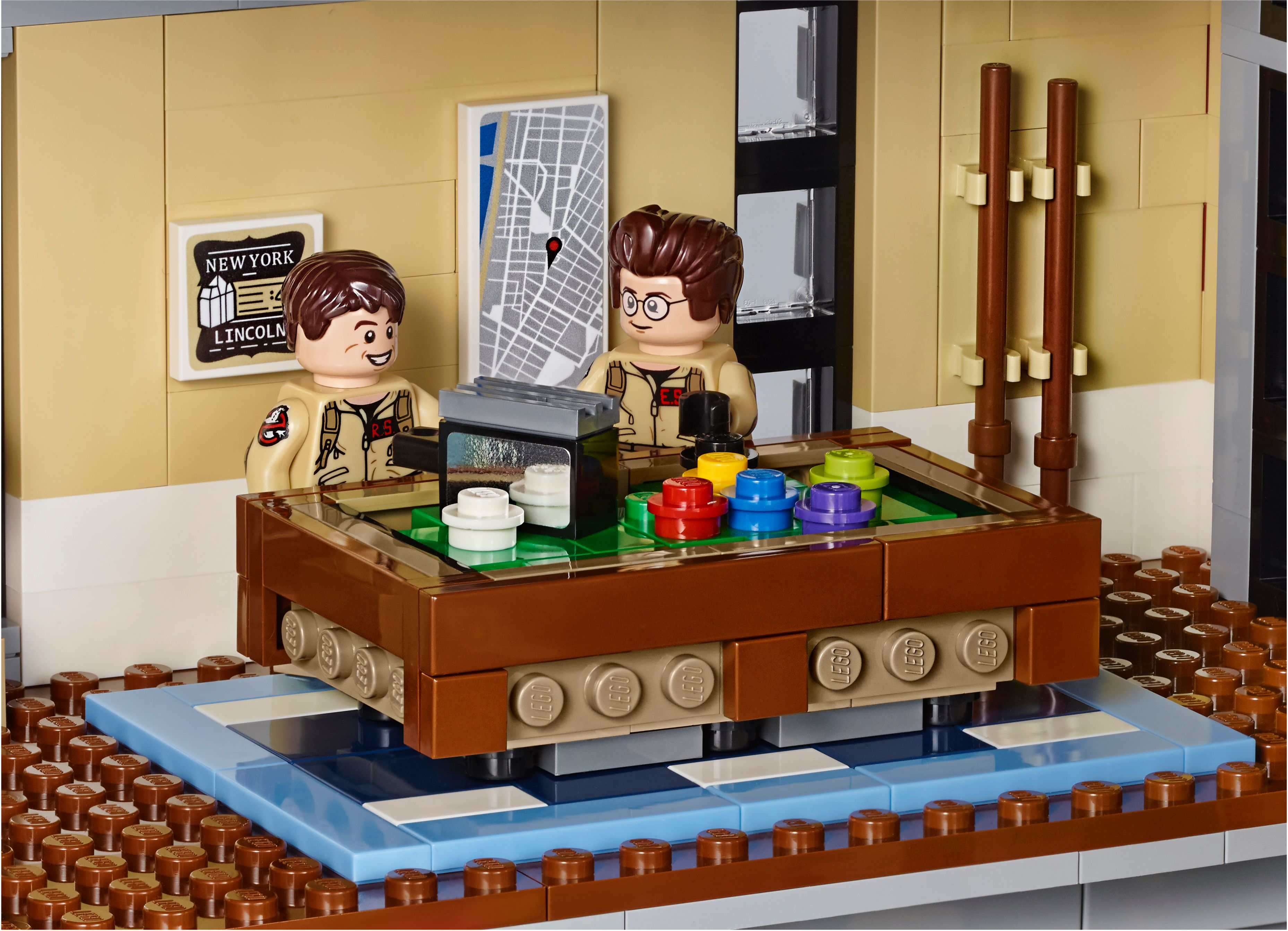 lego ghostbusters firehouse images go inside the hq collider