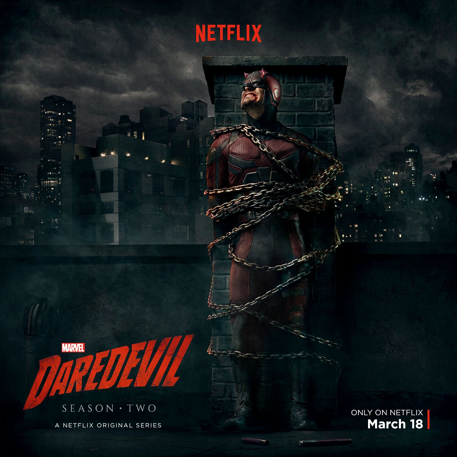Daredevil Season 2 Poster Finds The Marvel Hero All Tied Up
